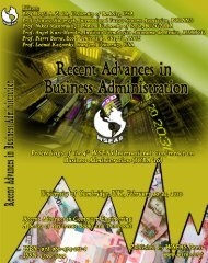 RECENT ADVANCES in BUSINESS ADMINISTRATION ... - Wseas.us