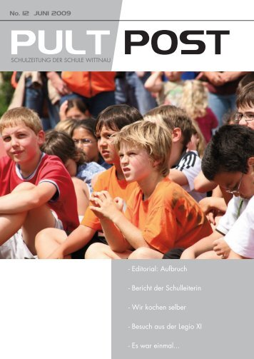 Pultpost 12 2009 - Schule Wittnau