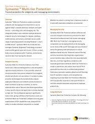 Symantec Multi-Tier Protection - iSoftland