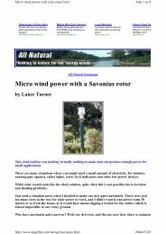 Micro wind power with a Savonius rotor - Otherpower