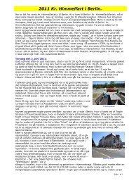 2011 Kr. Himmelfart i Berlin. - Campisternes Rejseportal