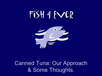 Canned Tuna - Seafood Choices Alliance