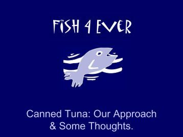 Canned Tuna - Seafood Choices Alliance