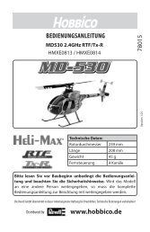 Download Anleitung – DE (PDF) - Hobbico