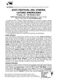 Programma del Festival - Festival del Cinema Latino Americano a ...