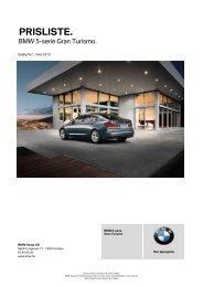 Last ned. Gyldig prisliste for BMW 5-serie Gran Turismo