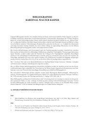 Zur Bibliographie Walter Kaspers (Stand 13.11.13) - Philosophisch ...