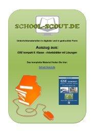 GSE kompakt 8. Klasse - Arbeitsblätter mit Lösungen - School-Scout