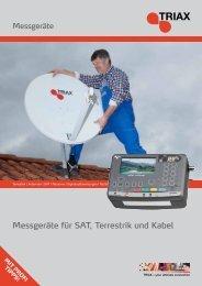 Messgeräte für SAT, Terrestrik und Kabel