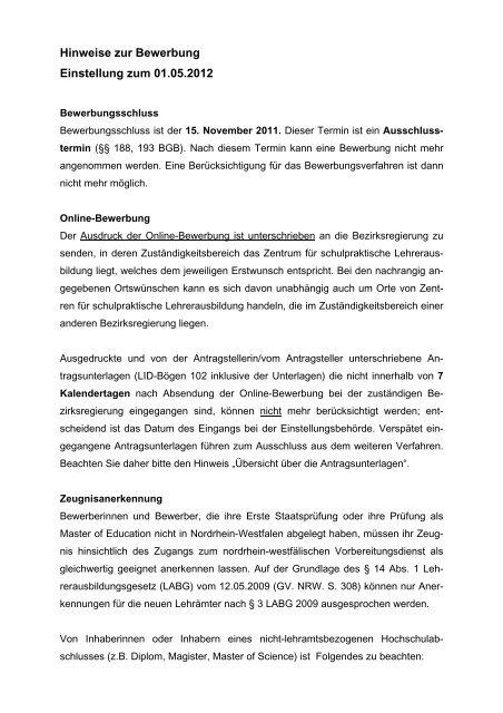 Bewerbung Archivassesor Referendariat Ausbildung 8