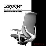 Zephyr - Instruction for Use - Okamura Corporation