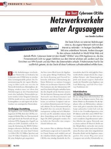 Netzwerkverkehr unter Argusaugen - Cyberoam