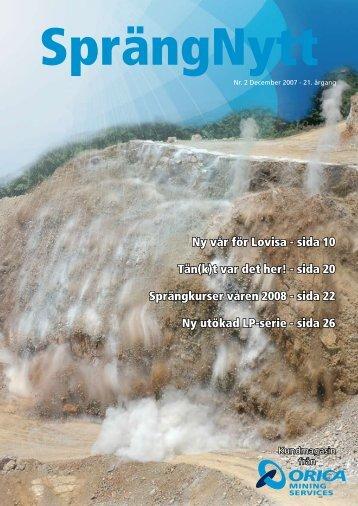 SprengNytt Nummer 2_2007.pdf - Orica Mining Services