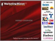 AGENCY OVERVIEW - Marketing Maven Public Relations