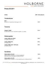 CHF sale prices 03-2011 - Erni Hifi