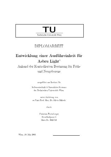 DIPLOMARBEIT - Information Engineering Group - Technische ...