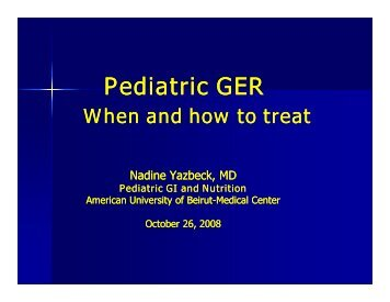 Pediatric reflux