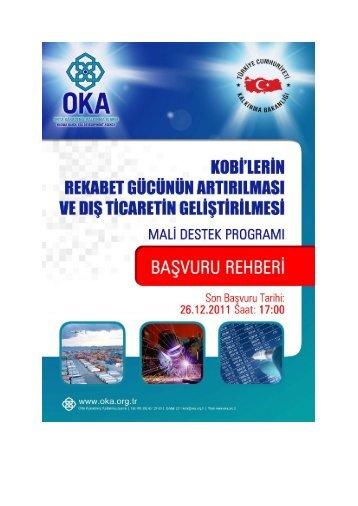 2011 Kobi Başvuru Rehberi - Orta Karadeniz Kalkınma Ajansı