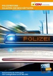 PoLIzEIREFoRM – zULAstEn DER BEsCHäFtIgtEn - CDU-Fraktion