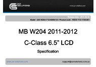 Download user manual for Mercedes-Benz W204 ... - GSM Server.com