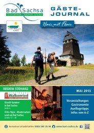 Gästejournal Mai 2013 (PDF) - Walkenried
