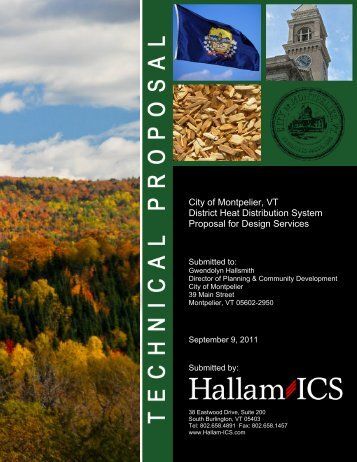 Hallam-ISC Technical Proposal - City of Montpelier, Vermont