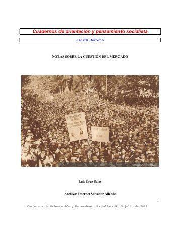 notas sobre la cuestión del mercado - Salvador Allende