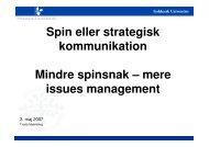 Leder af journalistuddannelsen, Syddansk Universitet Troels ...