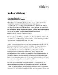 Medienmitteilung Juli 2011 - Sihlcity