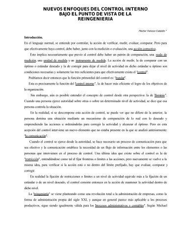 nuevos enfoques del control interno bajo el ... - Revista de Marina