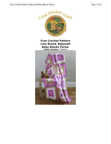 Free Crochet Pattern Lion Brand® Babysoft Baby Blocks Throw