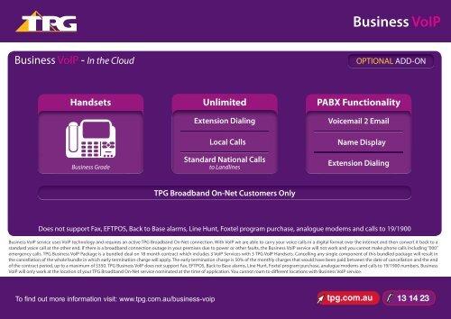 Business VoIP - TPG Internet