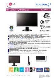 TFT Monitor FLATRON wide L225WT-SF - Computeruniverse