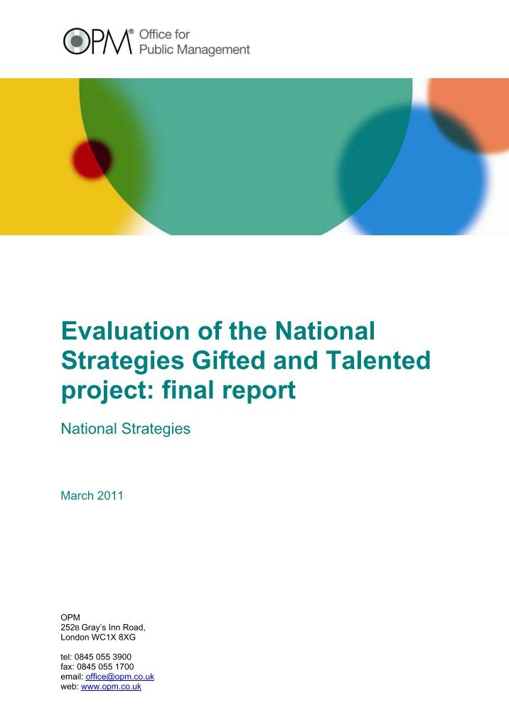 an overview of the gifted and talented education program in the united states and the proponents and Position statement on the education of gifted and talented students foundation for excellent schools (fes) fes is a national, nonprofit organization that partners with public schools in high-need communities to raise student aspirations and performance.
