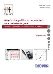 Cahier 37: Wetenschappelijke experimenten voor de tweede graad