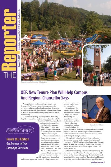 View the August 27, 2007 issue - Western Carolina University