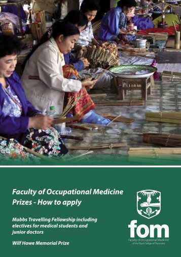 Download prizes information as PDF - Faculty of Occupational ...