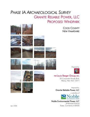 phase ia archaeological survey - New Hampshire Site Evaluation ...
