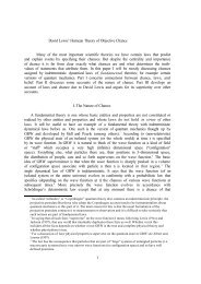 1 David Lewis' Humean Theory of Objective Chance Many of the ...