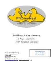 Fortbildung – Beratung – Betreuung - Nestwärme