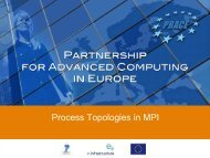 Process Topologies in MPI - Prace Training Portal