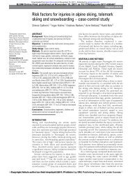 Risk factors for injuries in alpine skiing, telemark skiing and ...