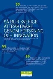 SÃ¥ blir Sverigeattraktivare genom forskning och innovation - Vinnova
