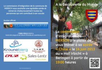 A la Découverte du Monde La commission d'intégration de ... - RTL.lu