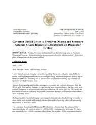 Governor Jindal Letter to President Obama and Secretary ... - EDsuite