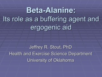 Creatine & Beta-Alanine - International Society Of Sports Nutrition