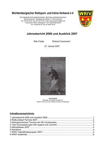 Württembergischer Rollsport- und Inline-Verband e.V.