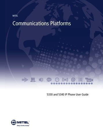 5330/5340 IP Phone User Guide - Mitel Edocs