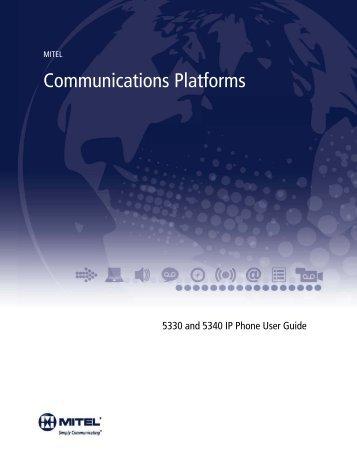 5330/5340 IP Phone User Guide - Mitel Edocs