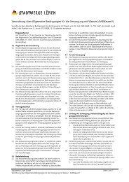 Verordnung über Allgemeine Bedingungen für ... - Stadtwerke Lünen
